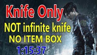 Resident Evil 2 Remake - Knife Only Speedrun 1:15:37