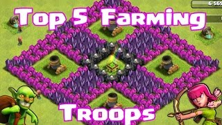 """Clash of clans Top 5 Farming Troops"" (Tips for Best compositions)"