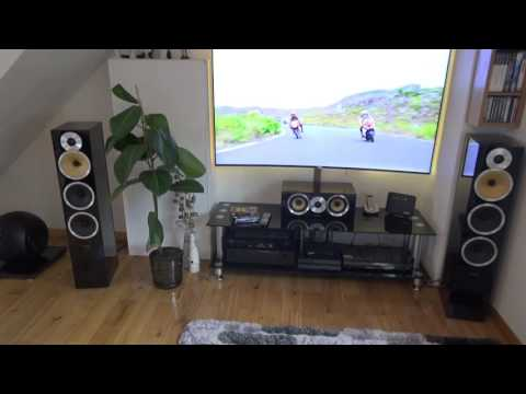 Bowers and Wilkins B&W Subwoofer PV1D test (HQ)  + CM9 speakers