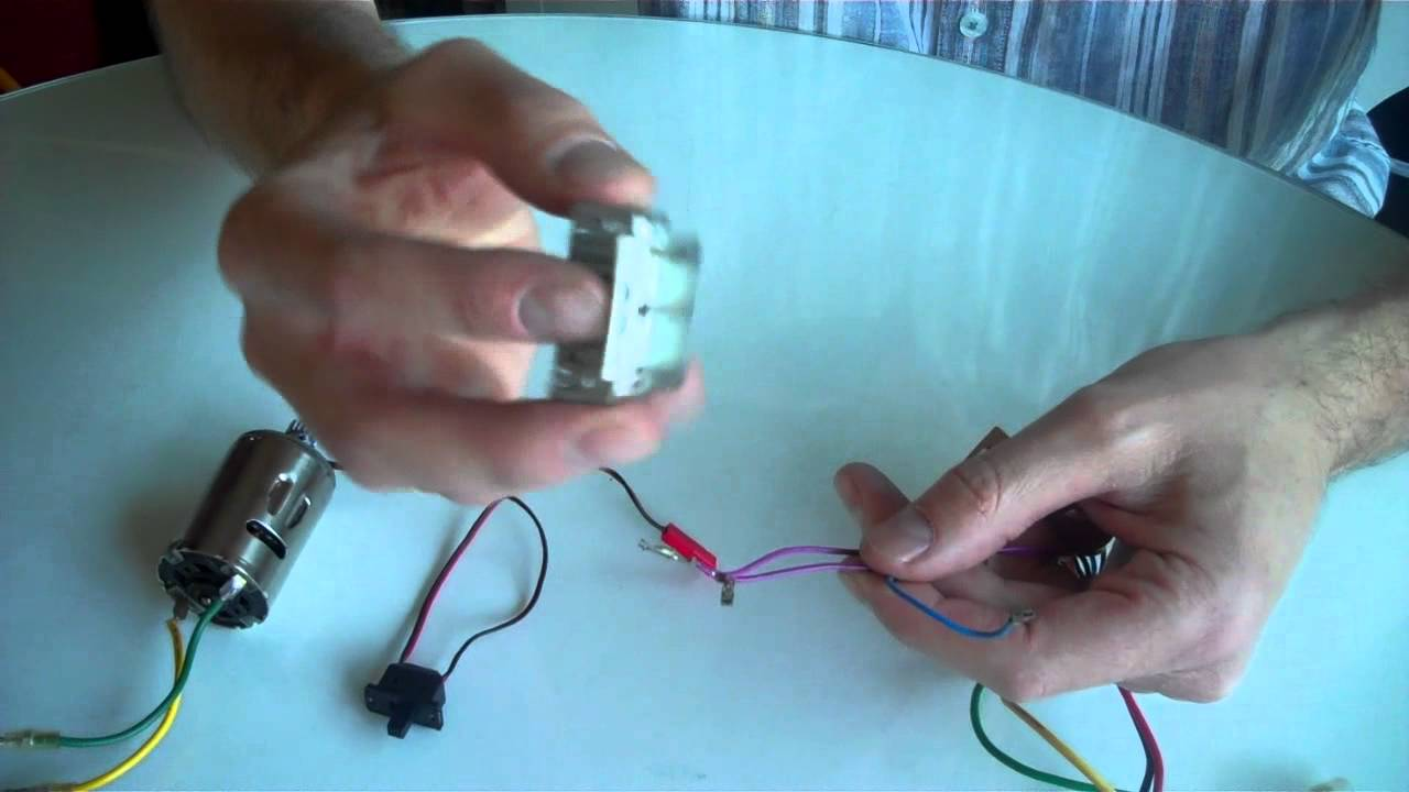 How To Wire Up A Tamiya Radio Controlled Car MSC (Mechanical Speed ...