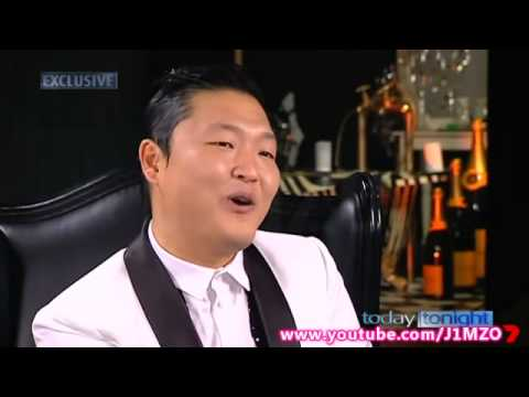 PSY  First Exclusive Australian TV   Today Tonight