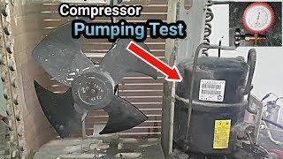 How to test compressor pumping,Back pressure up don problem