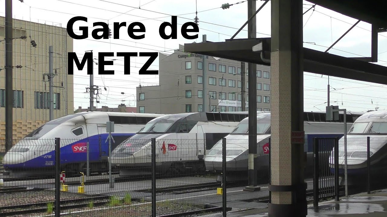 gare de metz bahnhof tgv z ge railway station tgv trains youtube. Black Bedroom Furniture Sets. Home Design Ideas