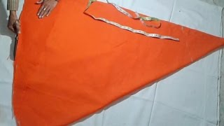 Long umbrella skirt cutting and stitching video in hindi