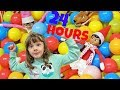 24 HOUR CHALLENGE IN A BALL PIT WITH THE ELF ON THE SHELF!