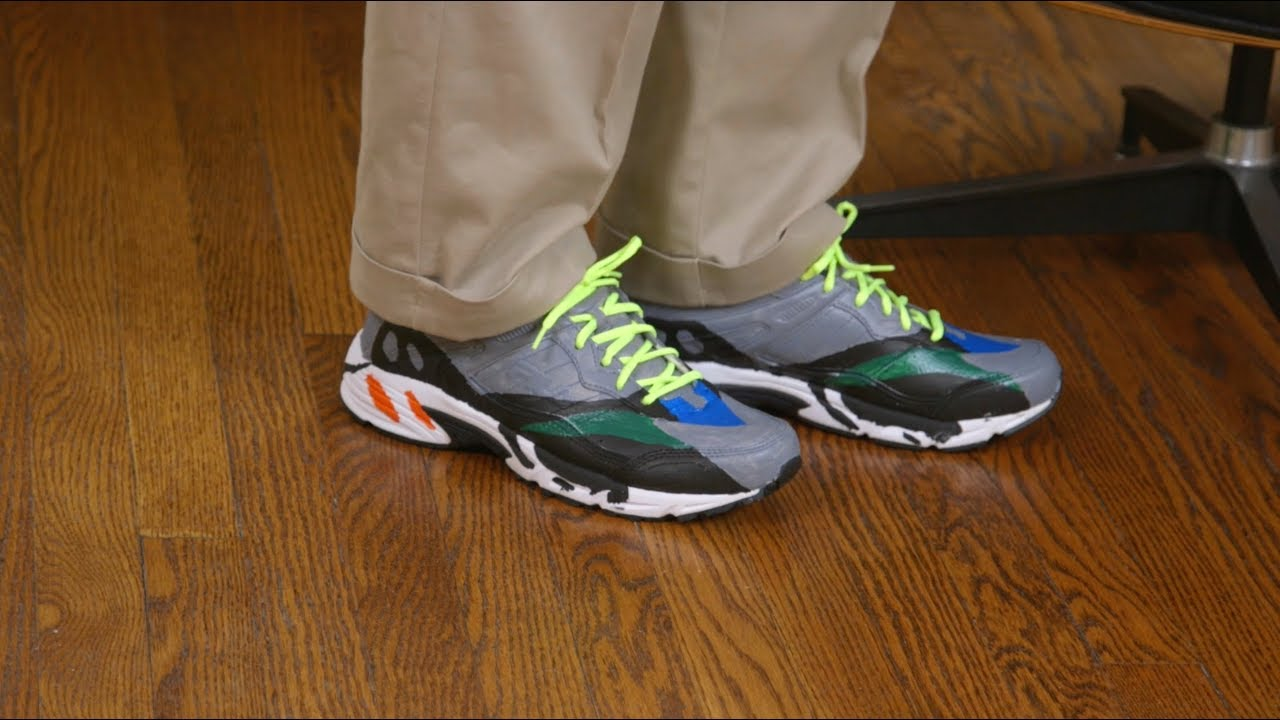 694cd5d2c Yeezy Wave Runner 700 Mock-up Hands On - YouTube