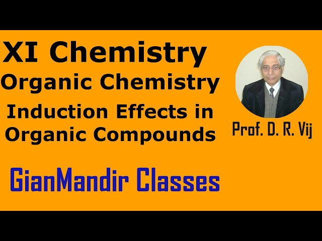 XI Chemistry | Organic Chemistry | Induction Effects in Organic Compounds by Ruchi Ma'am