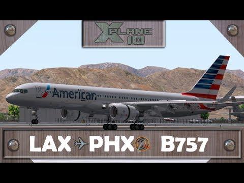 X-Plane 10.50   L.Angeles [LAX] ✈ Phoenix [PHX]   AAL680   B757 [IVAO]