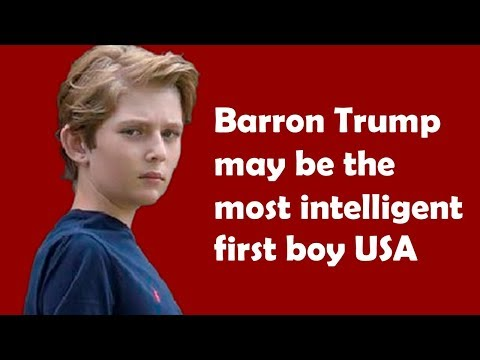 Barron Trump may be the most intelligent first boy USA