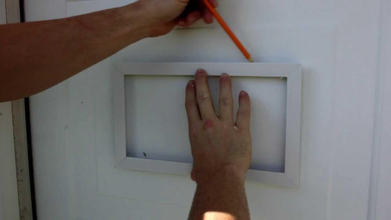 How To Install Garage Door Vents  YouTube