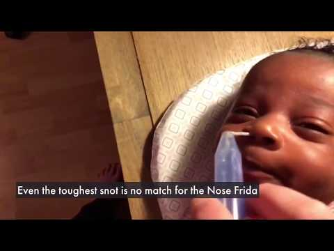 NoseFrida How It Works & Demonstration With A Baby