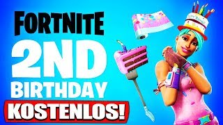 All FREE Fortnite 2nd Birthday Rewards & Challenges! | Fortnite Birthday Event