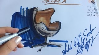 HOW TO DRAW AN EGG ARMCHAIR