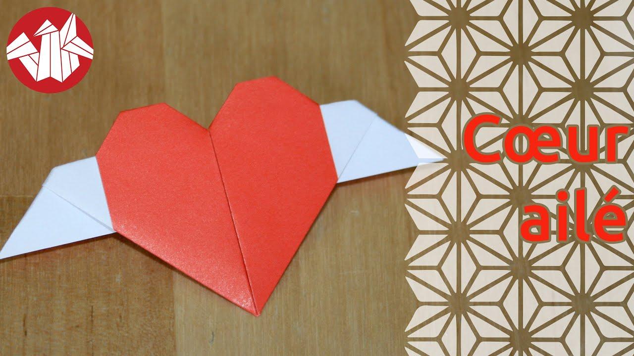 origami coeur ail winged heart senbazuru youtube. Black Bedroom Furniture Sets. Home Design Ideas
