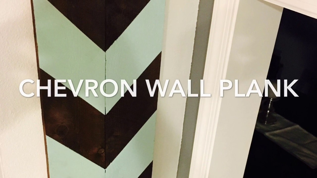 Chevron Wall Art Wall Plank DIY Pallet - YouTube