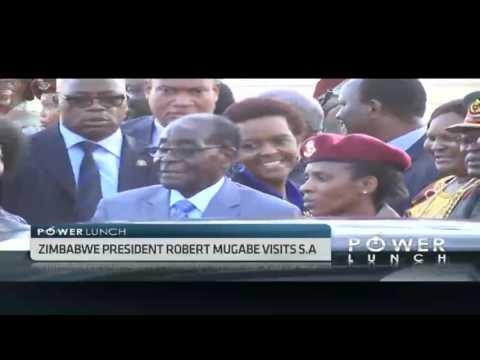 President Mugabe on historical visit to S.Africa