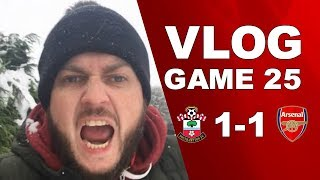 SOUTHAMPTON 1 v 1 ARSENAL - ANOTHER AWFUL PERFORMANCE - MATCHDAY VLOG