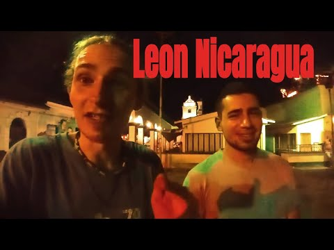 Hanging Out With Friends at Night in Leon Nicaragua