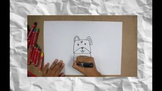 how to draw painting dog