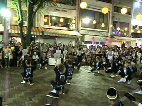 阿波踊り 獅子夏舞のサプライズゲリラライブ的な乱舞