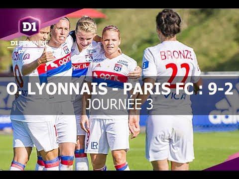 J3 : Olympique Lyonnais - Paris FC (9-2), le résumé