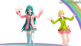 【MMD】Miku et Rin - Happy synthesizer