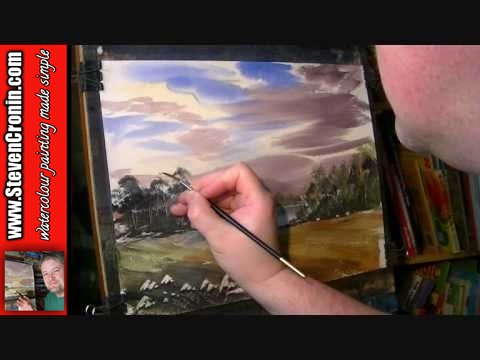 Cul Mor towards Suilven, Scotland Part 2 of 2 Watercolor Landscape Painting Lesson