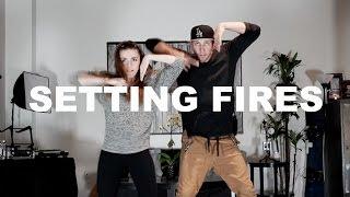 'SETTING FIRES' - The Chainsmokers Dance | @MattSteffanina ft @Amymarieg