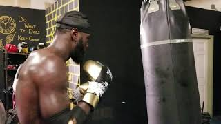 DEONTAY WILDER: DESTROYING HEAVY BAG WITH JAB, WITH WARNING TO LUIS ORTIZ AND TYSON FURY !!