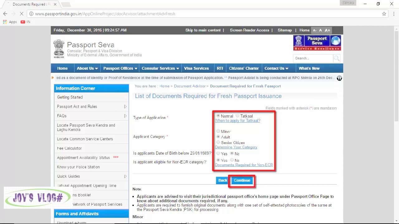 How To Get A Passport In India Ecr & Non Ecr , Document Adviser, Address
