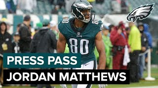 WR Jordan Matthews Discusses His First Game Back With The Eagles | Eagles Press Pass