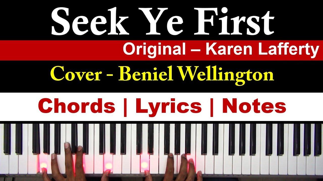 seek ye first chords pdf