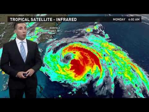 Hurricane Maria Forecast Track for Monday morning, September 25