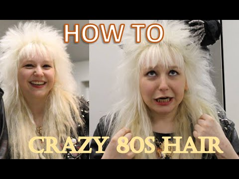 The ULTIMATE 80s Hair Tutorial YouTube