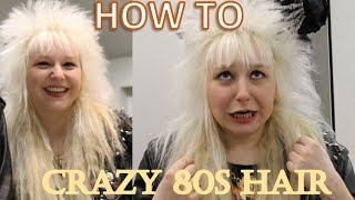 the ULTIMATE 80s hair tutorial