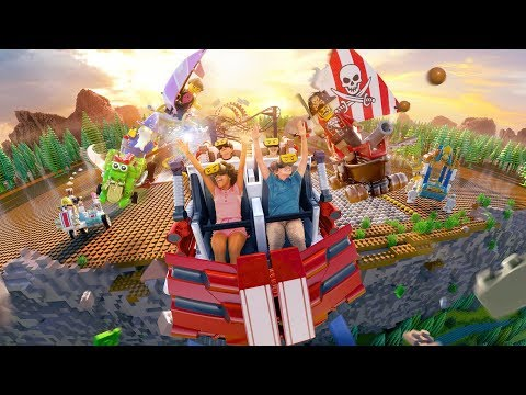 The Great LEGO Race Virtual Reality Roller Coaster Full POV Ride at LEGOLAND Florida Resort 2018