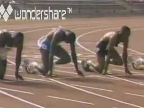 Carl Lewis 100m Fastest Time Ever!!!!!!