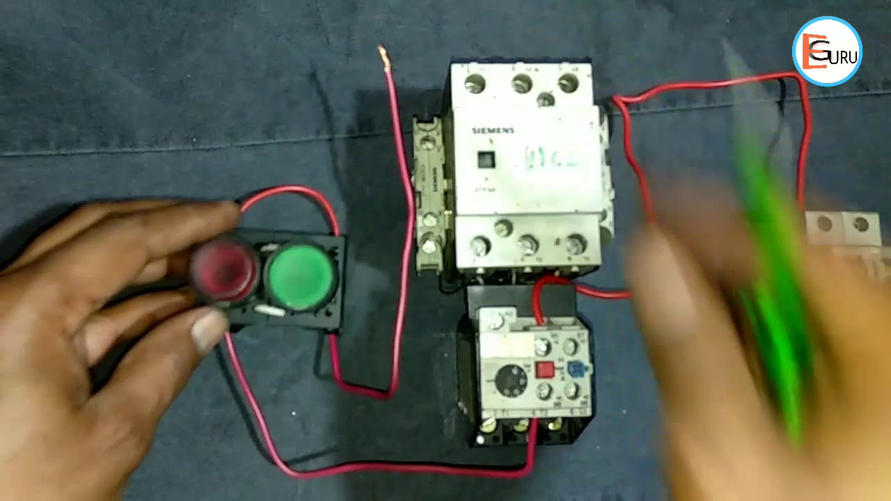 dol starter control wiring direct online starter circuit connection by electric guru [ 1280 x 720 Pixel ]