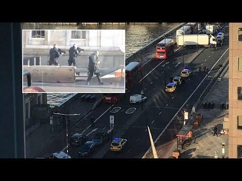 London Bridge terror attack: Police respond to gunshots as public flee scene