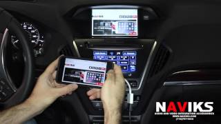 2016 Acura MDX NAVIKS HDMI Video Interface Add: Smartphone Mirroring