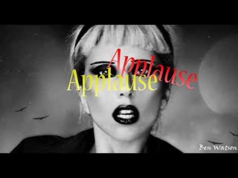 Lady GaGa Applause Lyric Video