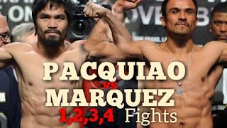 Unforgettable fights highlights 1,2,3,4 Manny Pacquiao vs Juan Manuel  Marquez