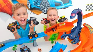 Vlad and Niki Collect Toy Cars | Hot Wheels Monster Trucks screenshot 4