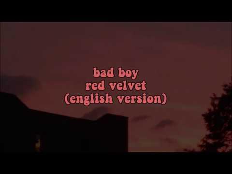 Bad Boy - Red Velvet (english Version) || Lyrics