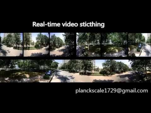 Real-time panoramic video stitching