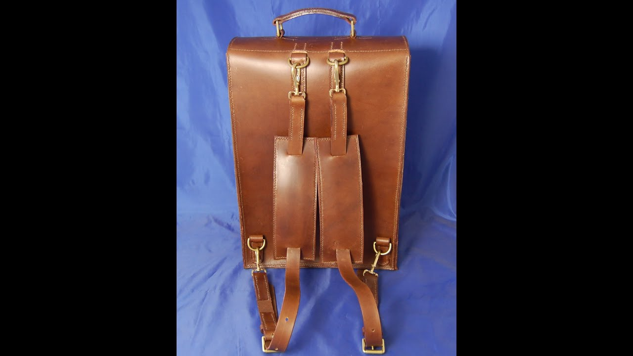 Hand Sewn Leather Backpack - YouTube