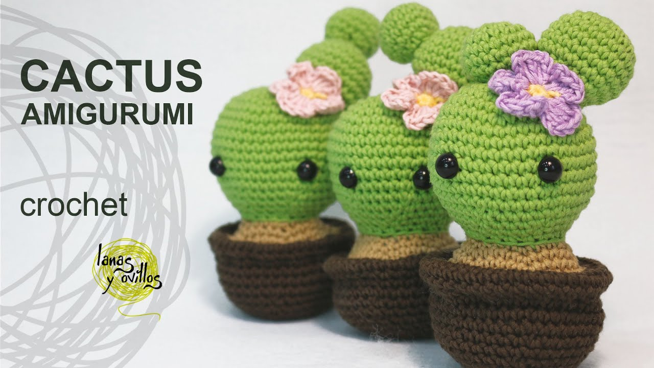 Amigurumi Cactus Pattern : Tutorial Cactus Amigurumi (English Subtitles) - YouTube