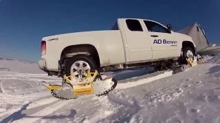 Как сделать из автомобиля снегоход за 15 минут не снимая колес(Как сделать из автомобиля снегоход за 15 минут. Не снимая колес с автомобиля на авто за несколько минут устан..., 2015-12-16T08:16:45.000Z)