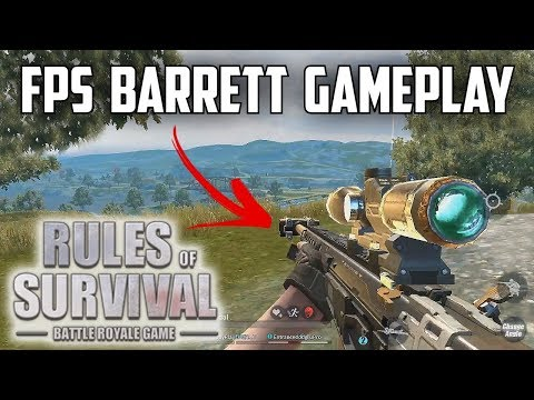 FIRST PERSON BARRETT DESTRUCTION! - Rules of Survival: Battle Royale