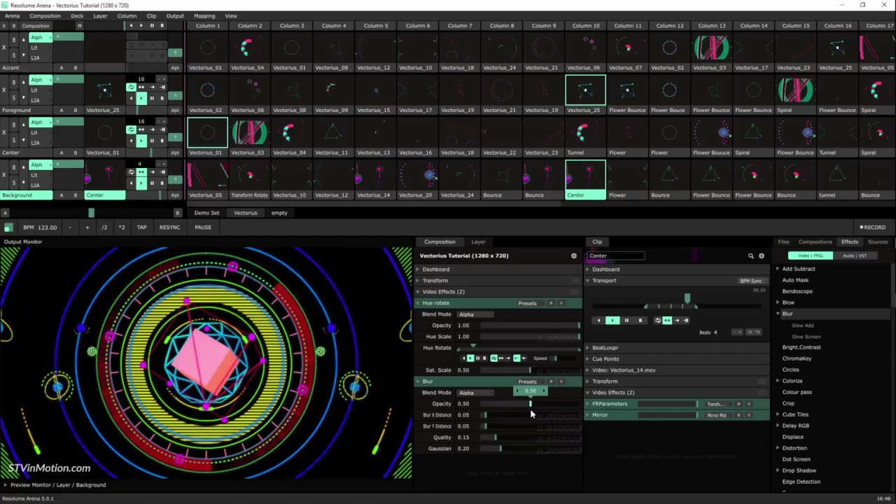 How To Perform a Live Visual Show Using Resolume VJ Software v 5 -  Vectorius Tutorial